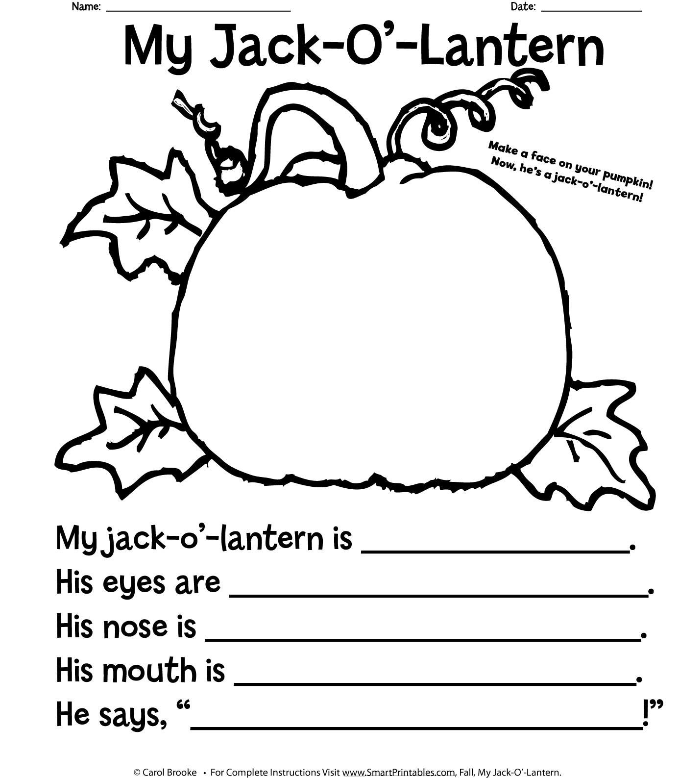 This is an image of Inventive Printable Jack O Lanterns