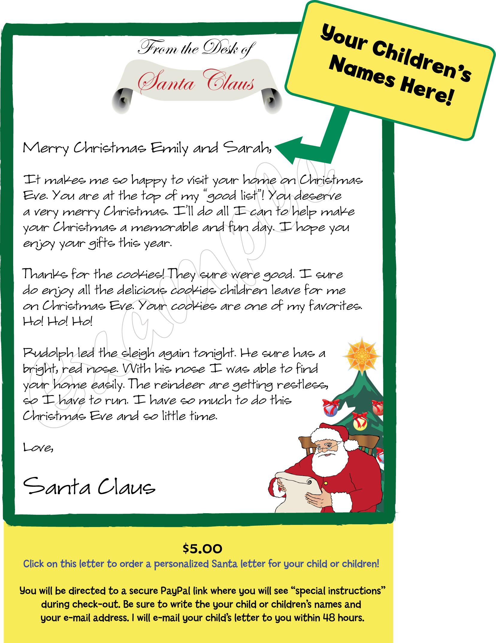 Free Friendly Letter to Santa | Smart Printables