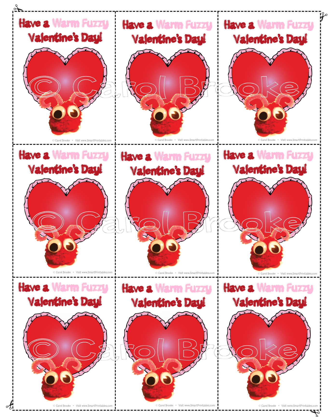 valentine u0027s day cards for students smart printables